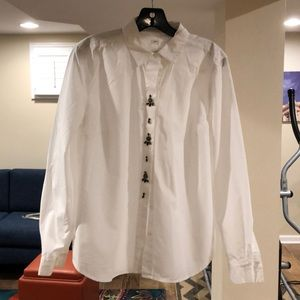 New bejeweled Loft blouse size M